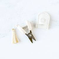 Mini Japanese Thread Snips - Limited Edition Winter White