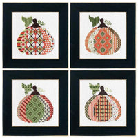 Patterned Pumpkin Cross Stitch Kit - Pumpkin #2