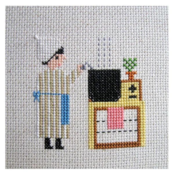 Cooking Potatoes Cross Stitch Pattern