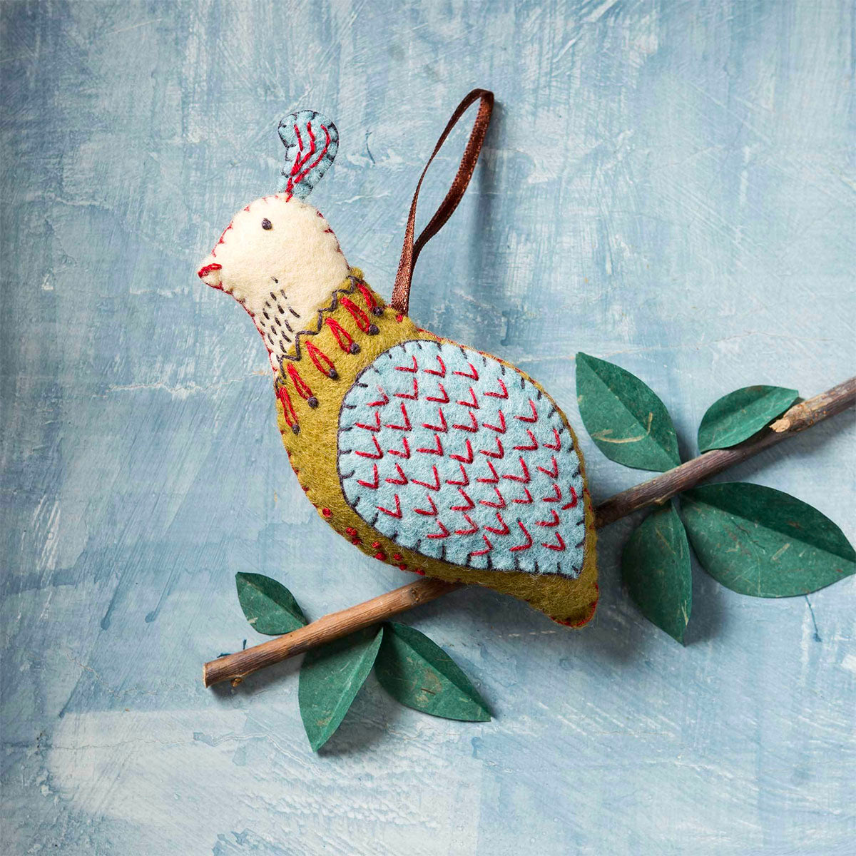 12 Days of Christmas Felt Ornament Kit - Partridge
