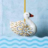 12 Days of Christmas Felt Ornament Kit - Swan-a-Swimming