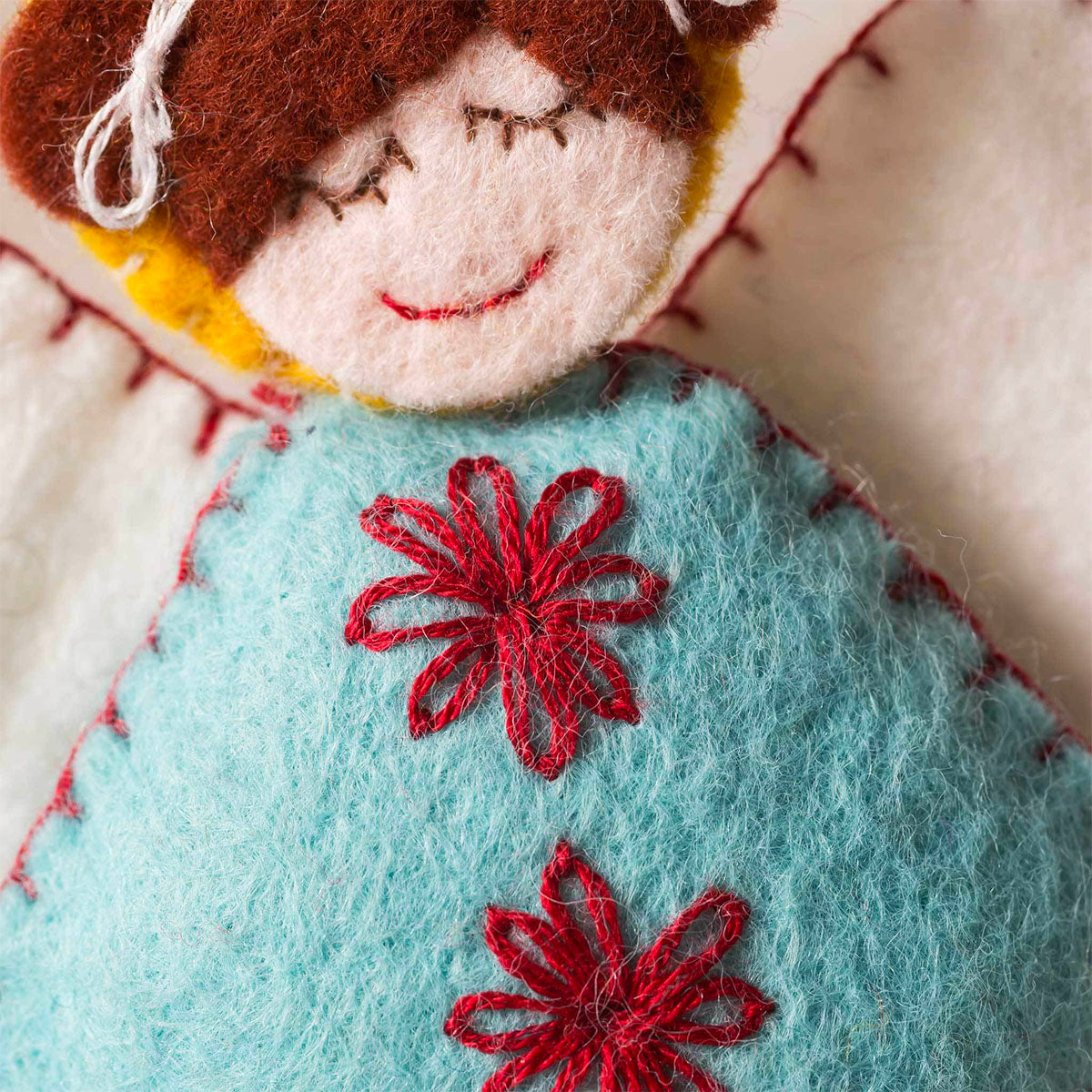 Hand Stitched Felt Craft Kit - Scandinavian Angels