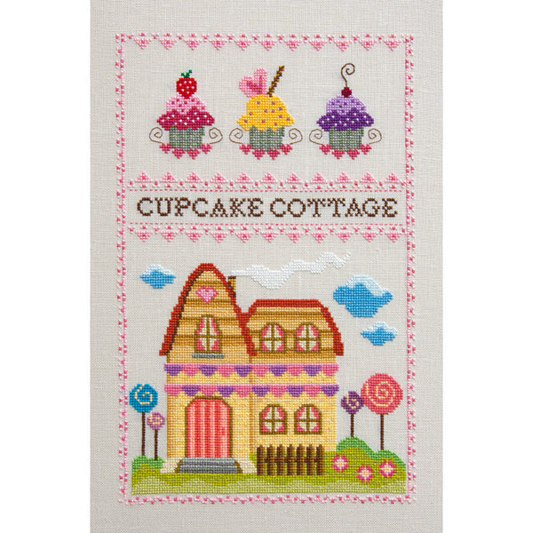 Cupcake Cottage Cross Stitch Pattern