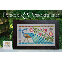 Peacock + Pomegranate Cross Stitch Pattern
