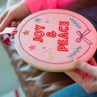 Joy and Peace Hand Embroidery Kit