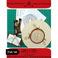 Family Tree Hand Embroidery Iron-on Pattern