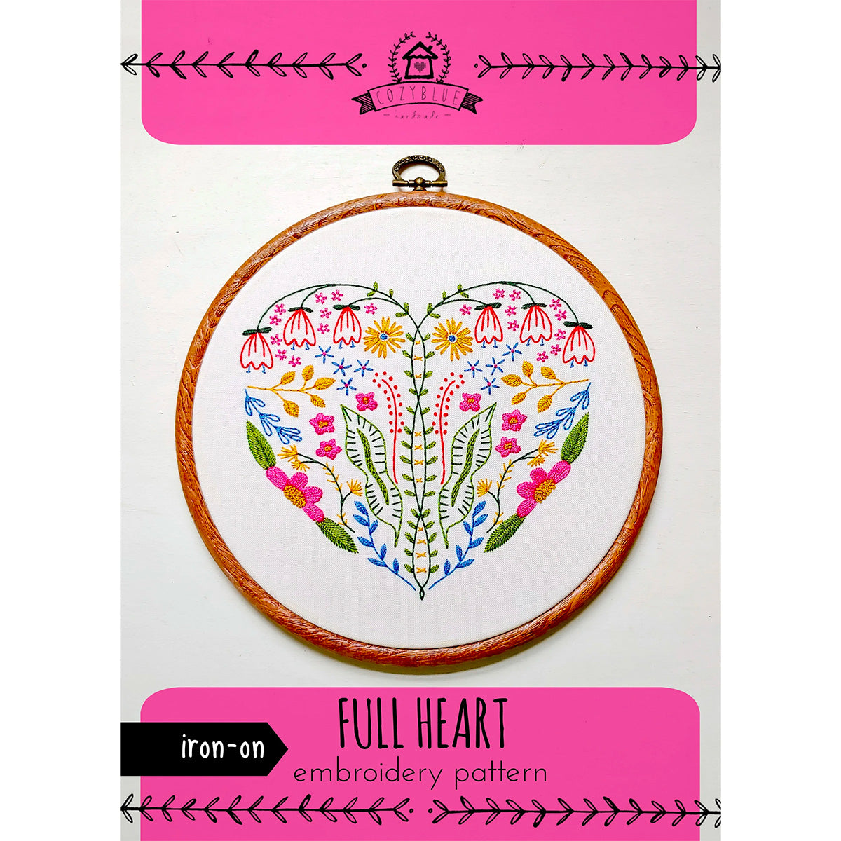Full Heart Hand Embroidery Iron-on Pattern