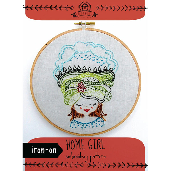 Home Girl Hand Embroidery Iron-on Pattern