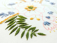 April Flowers Hand Embroidery Kit