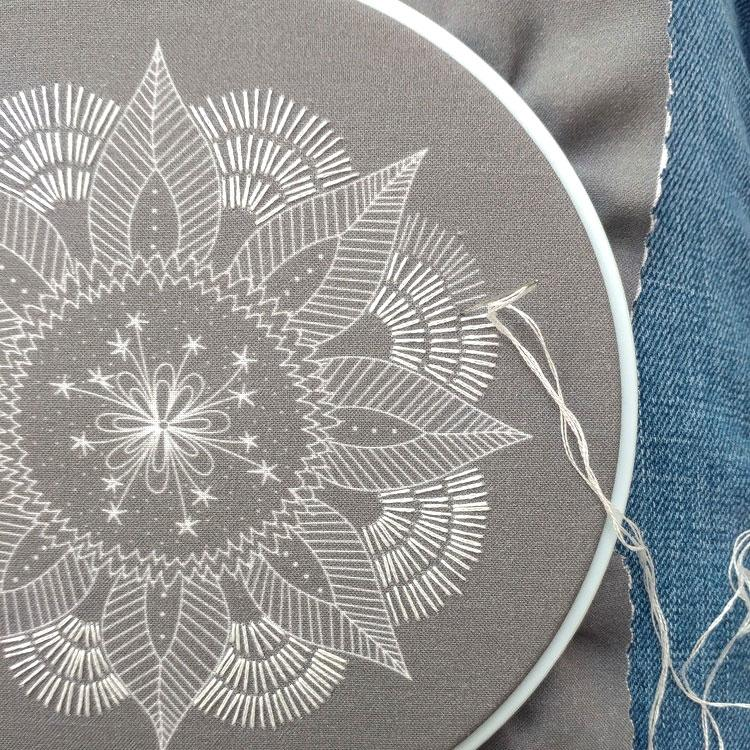 Autumn Mandala Hand Embroidery Kit