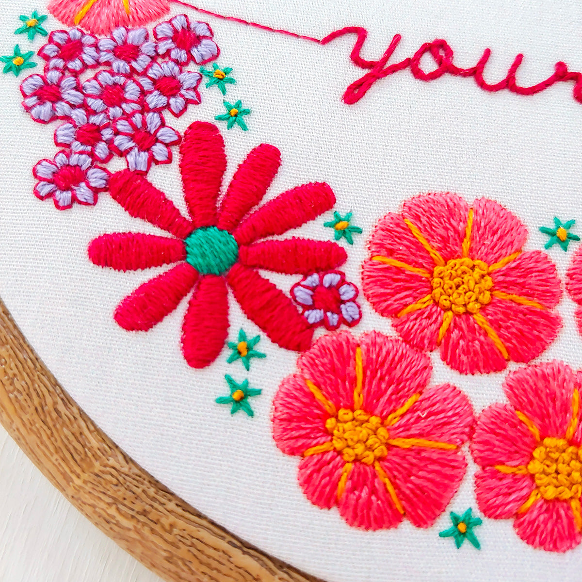 Be Gentle With Yourself Hand Embroidery Kit