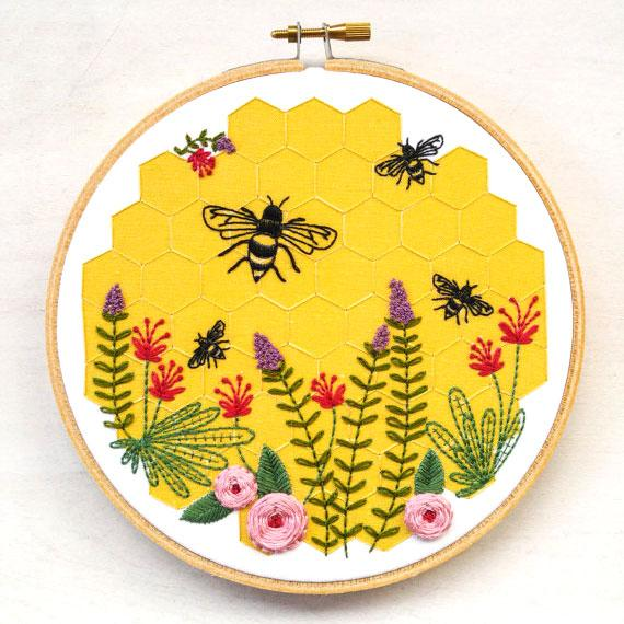 Bee Lovely Hand Embroidery Kit