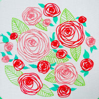 Coming Up Roses Hand Embroidery Kit