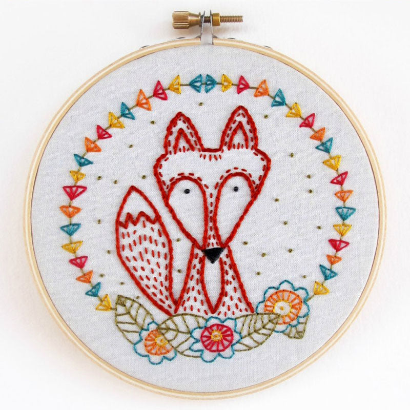 Crafty Fox Hand Embroidery Kit