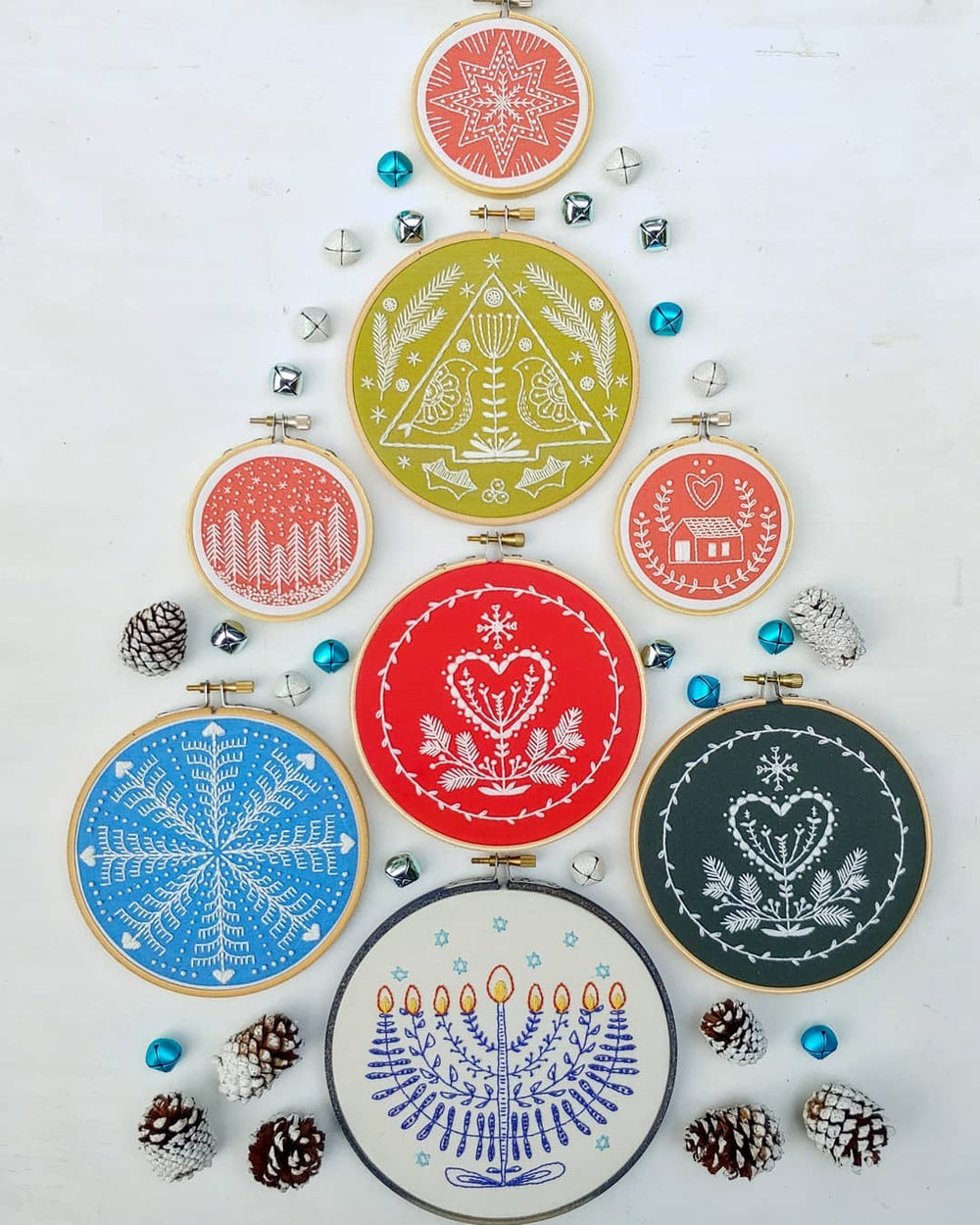 Festival of Lights Hanukkah Hand Embroidery Kit