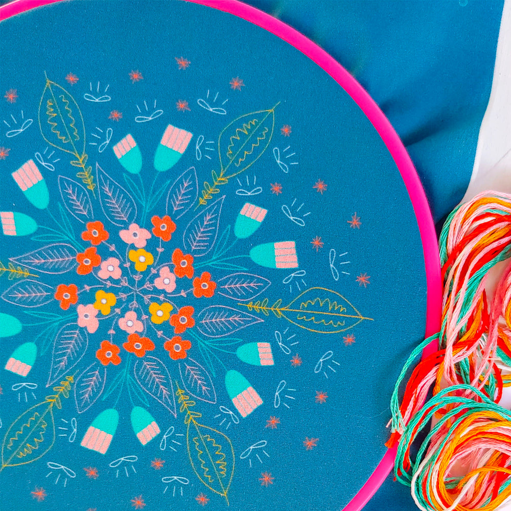 Floral Burst Hand Embroidery Kit