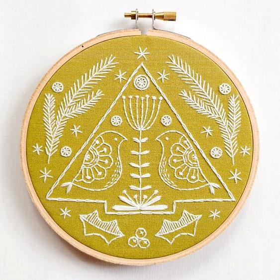 Folk Holiday Hand Embroidery Kit