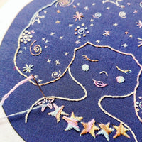 Galaxy Girl Hand Embroidery Kit