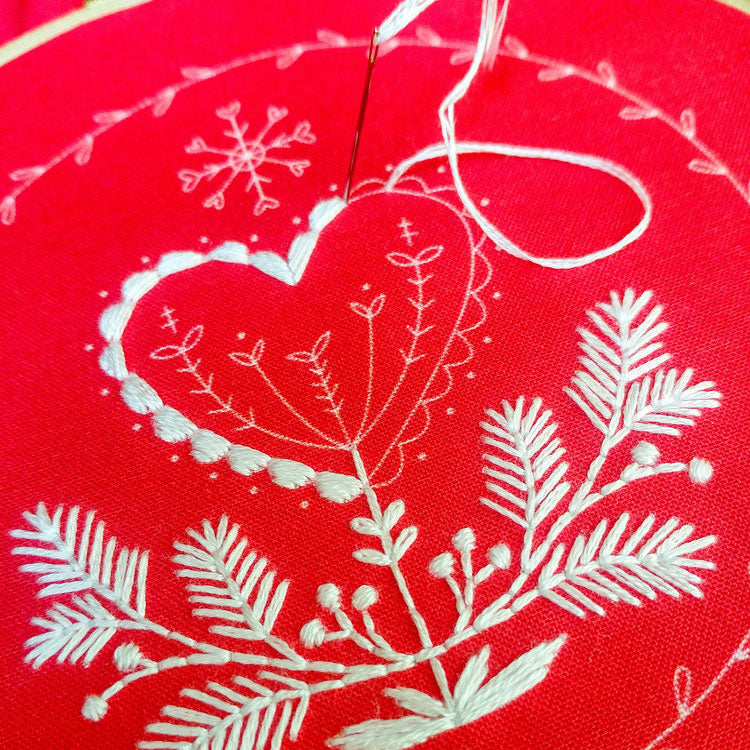 Holiday Heart Hand Embroidery Kit