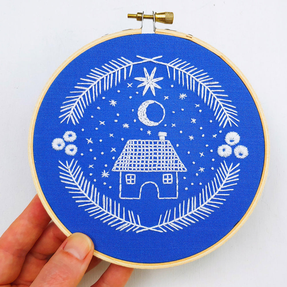 Holiday Home Hand Embroidery Kit