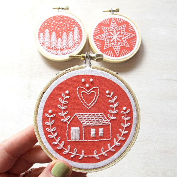 Holiday Ornaments Hand Embroidery Kit