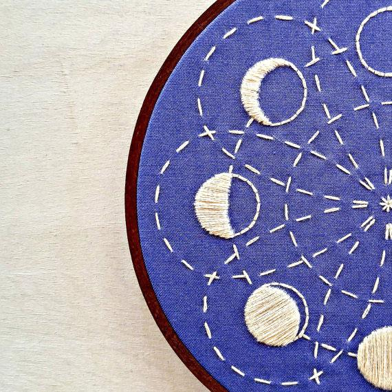 Lunar Blossom Hand Embroidery Kit