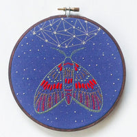 Midnight Flight Hand Embroidery Kit