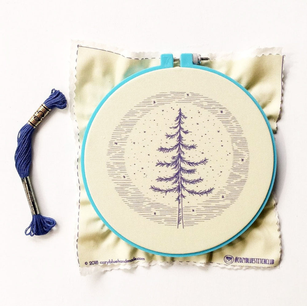 Moonlight Pine Hand Embroidery Kit