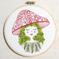 Mushroom Girl Hand Embroidery Kit