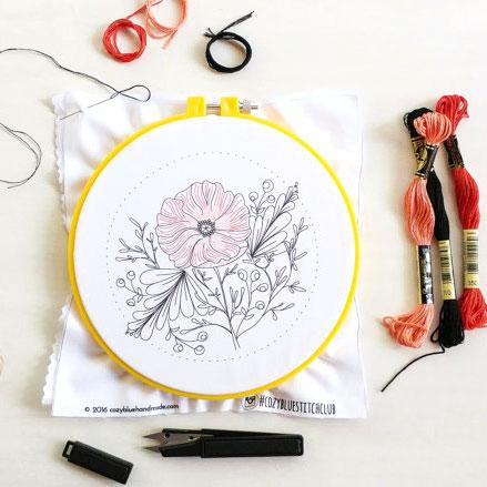 Poppy Power Hand Embroidery Kit