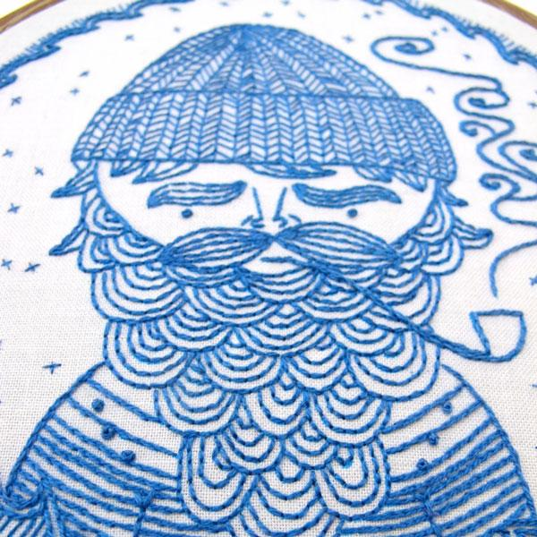 Sea Captain Hand Embroidery Kit