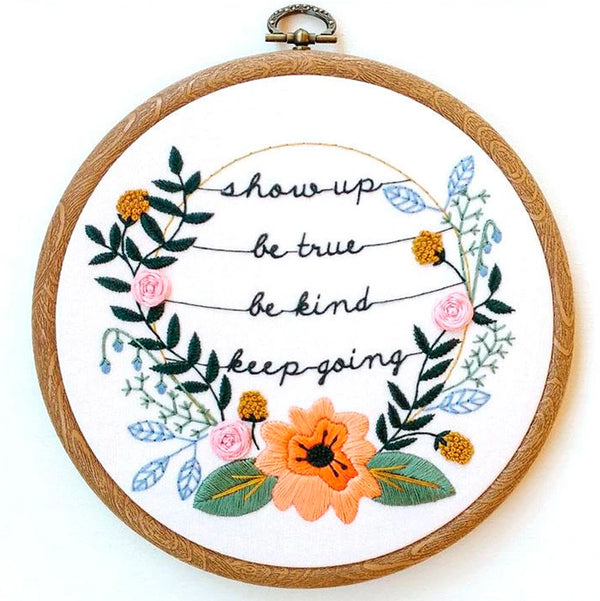 Show Up Hand Embroidery Kit