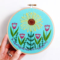 Summer Garden Hand Embroidery Kit