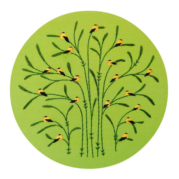 Summer Goldfinches Hand Embroidery Kit
