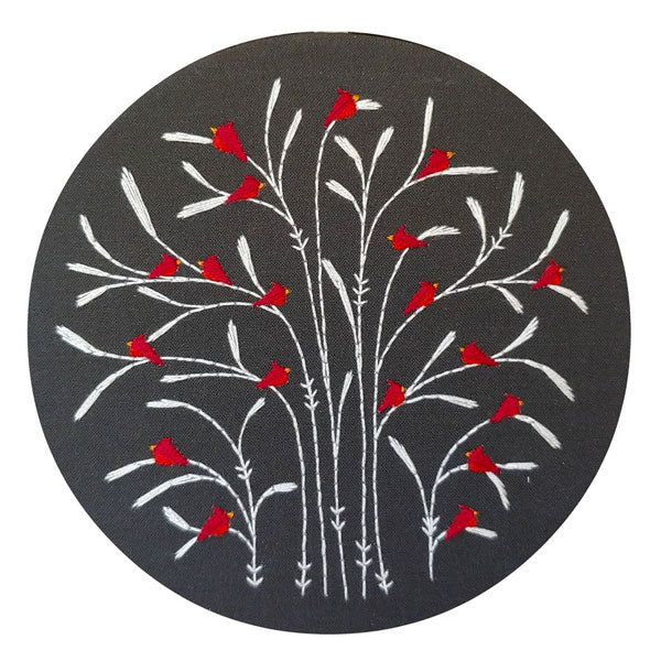Winter Cardinals Hand Embroidery Kit
