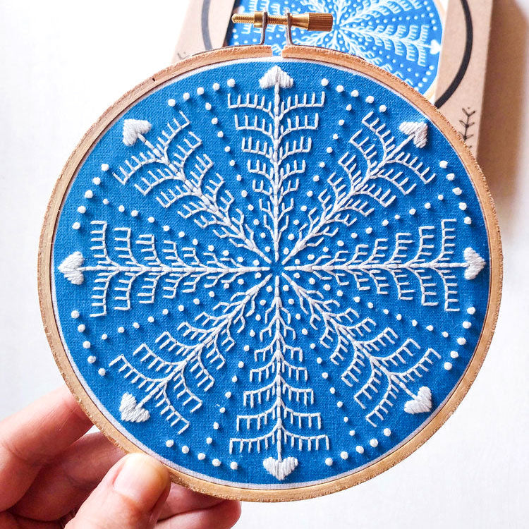 Winter Snowflake Hand Embroidery Kit