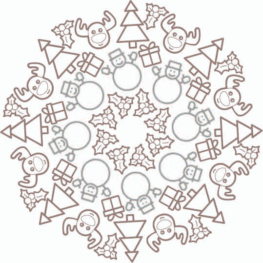Embroidoodle Hand Embroidery Panel - Christmas
