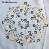 Embroidoodle Hand Embroidery Panel - Dogs