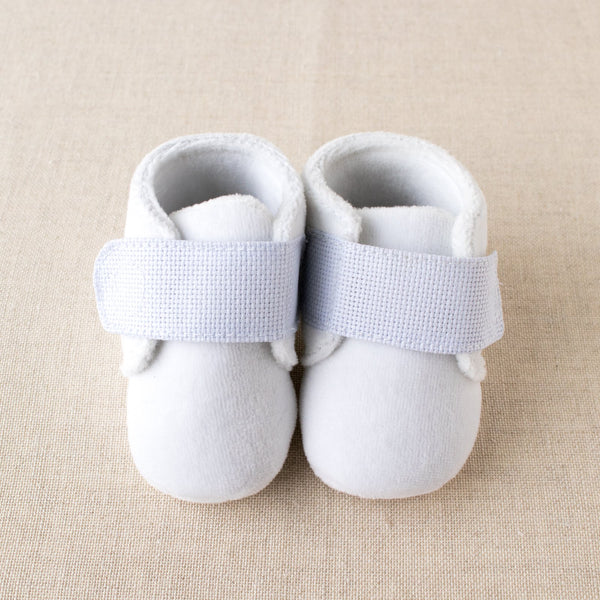 Cross stitch baby slippers