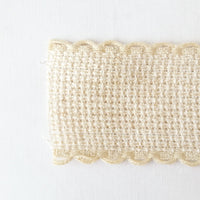 Scallop Edged Natural Aida Stitching Band - 1-3/16 Inch