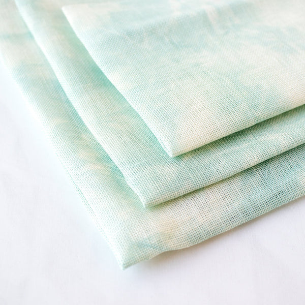 Hand Dyed Morning Dew Linen Fabric