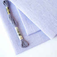 Peaceful Purple Linen Cross Stitch Fabric