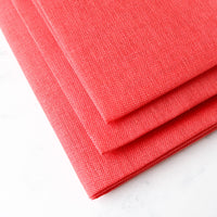 Riviera Coral Linen Cross Stitch Fabric