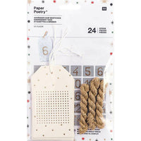 Cross Stitch Paper Gift and Advent Tags