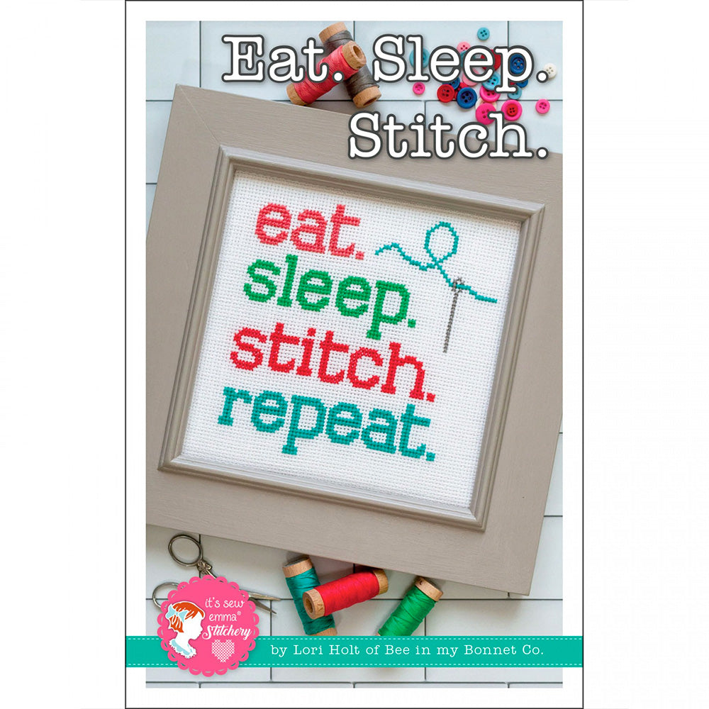 Eat Sleep Stitch Cross Stitch Pattern by It's Sew Emma