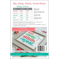 Eat Sleep Stitch Cross Stitch Pattern
