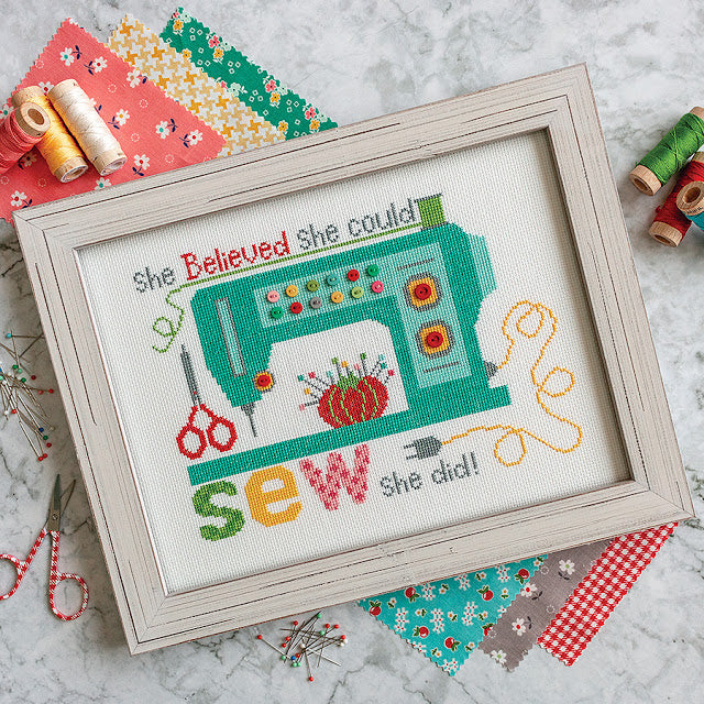 Sew She Did Cross Stitch Pattern by It's Sew Emma