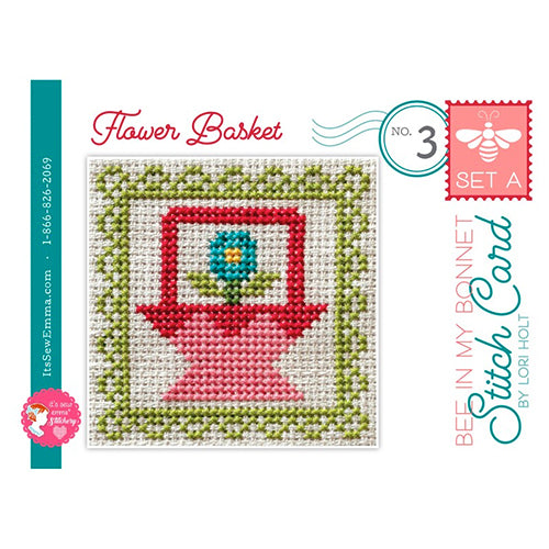 Bee in My Bonnet Stitch Card Cross Stitch Pattern - Set A