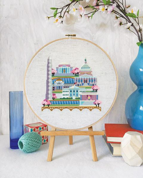 Pretty Little Washington D.C. Cross Stitch Pattern