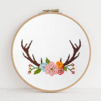 Antlers Cross Stitch Pattern